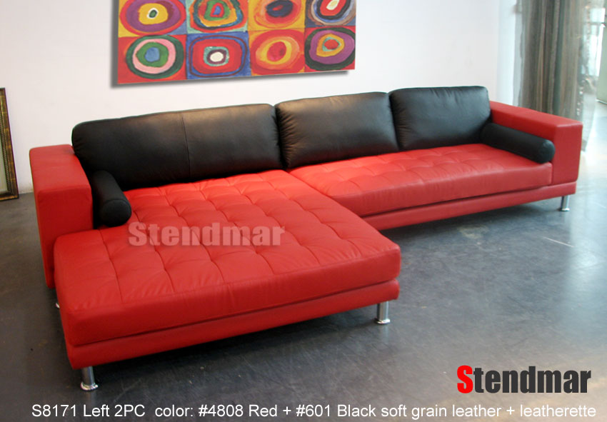 Welcome to Stendmar.com EXTRA WIDE CHAISE MODERN LEATHER SECTIONAL